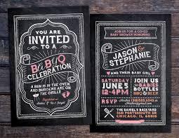 babyq chalkboard couples co ed baby shower bbq invitation babyq