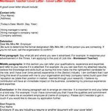 Resume For Montessori Teacher Academic Cover Letter Example Organisational Change Management