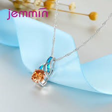 necklaces for jemmin high quality purple blue opal pendants necklaces for