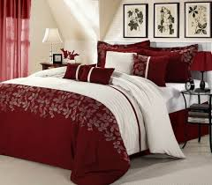 Red And White Comforter Sets Red And White Comforter Sets Home Design Ideas