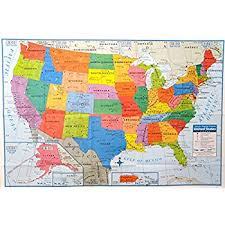 united states map with states on it 48x78 united states usa classic elite wall map