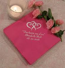 printed wedding napkins wedding napkins personalized personalized napkins wedding napkins