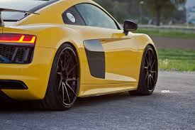 lexus f series yellow yellow audi r8 adv10r track spec cs concave wheels adv 1 wheels