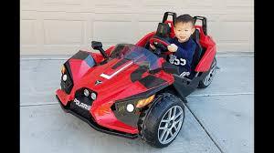 toddler battery car toddler unbox assemble u0026 drive peg perego polaris slingshot 12v
