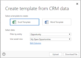 How To Create A Template In Excel Analyze Your Data With Excel Templates Microsoft Dynamics 365