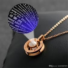photo necklace pendants images Wholesale projection pendant necklace women 2018 latest listing jpg