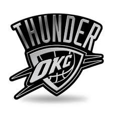 oklahoma city thunder logo 3d chrome auto emblem new truck or