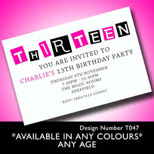 Create Your Own Invitation Card Magnificent 13th Birthday Party Invitations You Can Modify