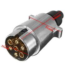12n 7 pin metal towing plug u0026 socket connector kit for towbar