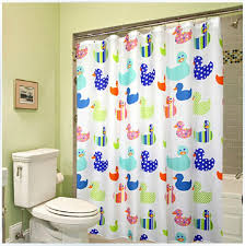 Shower Curtains Extra Long Cartoon Colorful Duck Shower Curtains Liner For Kids Thicher Extra