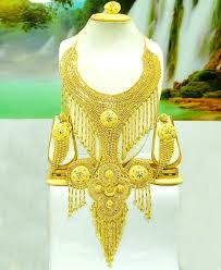 ladies gold necklace images Stylish antique gold necklace set for ladies african boutique jpg