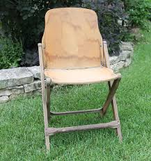Stakmore Folding Chairs by Vintage Wood Folding Chair Government Issue 1940s Military