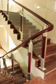 modern railing design stainless steel wood glass stair railing