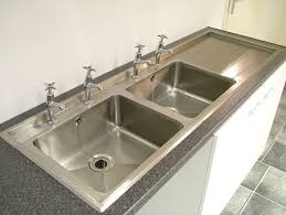 Stainless Design Services Ltd Double Bowl Inset Sink Tops - Kitchen sink double bowl double drainer