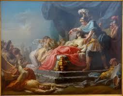 the iliad achilles displaying the body of hector at the feet of