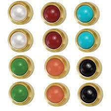 ear piercing studs studex ear piercing studs bezel set assorted pearls 3 95mm