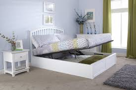 ottoman beds with mattress gfw madrid 4ft6 double white wooden ottoman bed by gfw