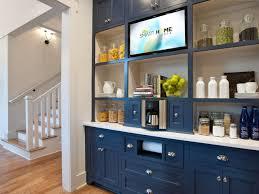 Blue Kitchen Cabinets Photos Hgtv Modern Blue Kitchen Cabinets Home Design Ideas