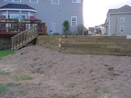 awesome landscape timber retaining wall top landscape timber