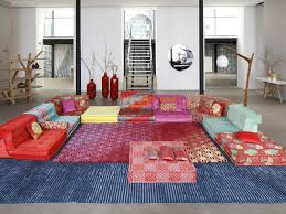 sectional fabric sofa mah jong missoni home by roche bobois design