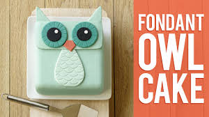 owl cake how to make a fondant owl cake