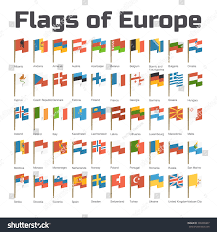 Flags Of Countries In Europe Flags Europe Flat Illustration European Countries Stock