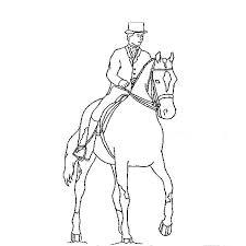 coloriage cheval et cavalier a imprimer gratuit