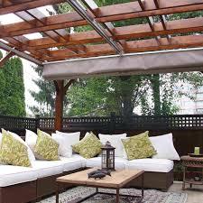 outdoor pergola with canopy 12x16 cedar storage solutions thos