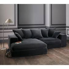 canap d angle 4 places canapé d angle 4 places en velours gris corner living rooms and