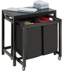 Washing Machine On Laminate Floor Furniture Captivating Wooden Laundry Folding Table With White