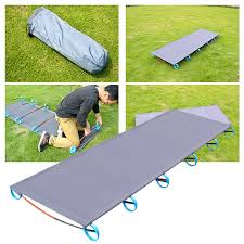 Portable Folding Bed Outdoor Folding Bed 200kg Bearing Light Bed Easy Install