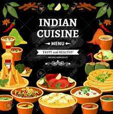 indian cuisine menu indian cuisine restaurant menu black board poster with colorful
