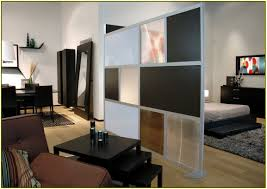 interior room partitions studio apartment with minimalist neutral