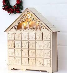 wood advent calendar wooden led lit advent calendar advent calendars wooden advent