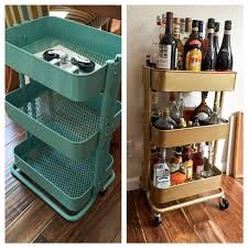 ikea rolling cart bar cart ikea hack this fairy tale life