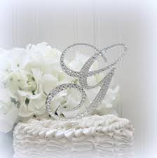 bling wedding cake toppers 5 wedding cake topper monogram initial cake toppers bling in