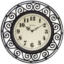 amazon com westclox 32021 round filigree rubbed clock 12 inch