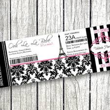 parisian baby shower baby shower boarding pass from pink pop roxx baby shower