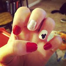 simple mickey mouse silhouette nail art pinterest mickey