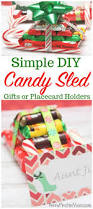 candy sled diy gift idea or placecard holder tutorial
