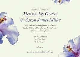 Wedding Invitation Examples Watercolor Hibiscus Wedding Invitation