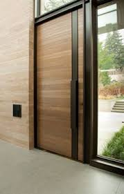 House Entrance Designs Exterior Example Of Custom Wood Door With Glass Surround Interior Barn