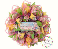 easter wreath easter deco mesh wreath happy easter wreath easter virginia