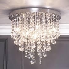 Flush Lights Montego Semi Flush Ceiling Light Crystal Effect Chrome From Litecraft