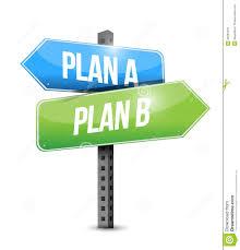 design a plan plan a plan b road sign illustration design stock illustration
