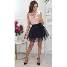 spodnica tiulowa spódnica tiulowa czarna rozowy infinity domodi pl