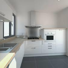 meuble de cuisine blanc brillant meuble cuisine plan de travail frais cuisine blanche design meuble