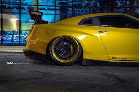 nissan yellow yellow rocket bunny nissan gtr adv 1 wheels