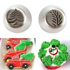 online shop 2pcs lot christmas tree icing piping tips stainless
