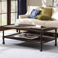 copper top coffee table living room coffee table two small drawer anda lower magazine